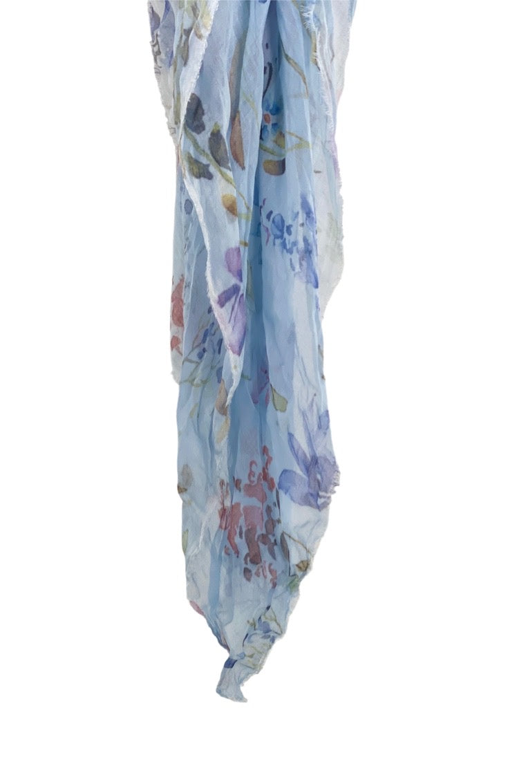 Avant Toi - Model Floral Scarf - CHAMBRAY