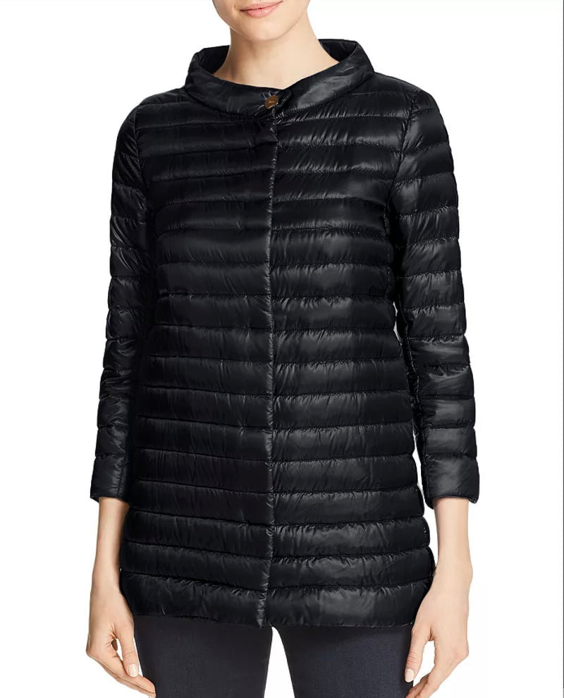 Herno - Nylon Three Quarter-Sleeve Down Jacket - BLACK