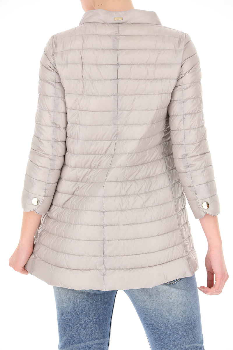 Herno - Nylon Three Quarter-Sleeve Down Jacket - SILVER