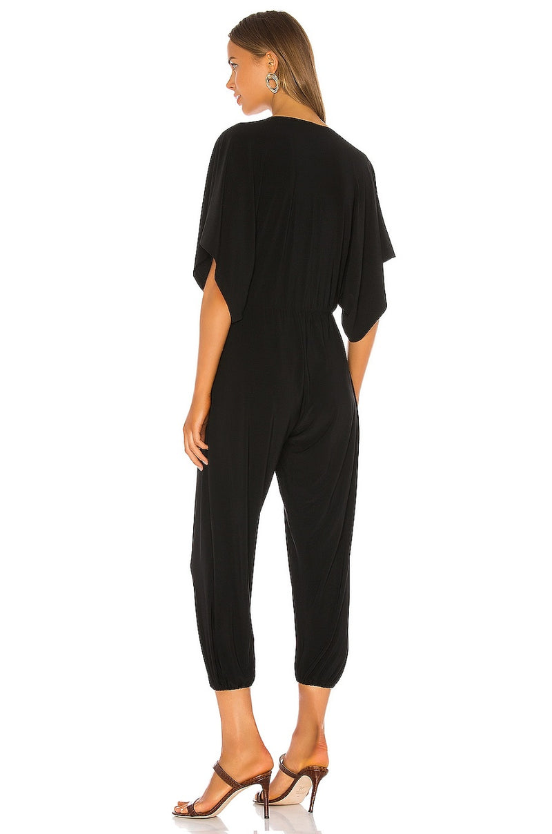 Norma Kamali - Rectangle Jog Jumpsuit - BLACK