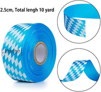 Oktoberfest Blue Checkered Ribbon