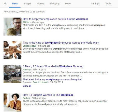 Google News can lead to great article ideas