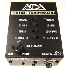 ADA GCS-3 Guitar Cabinet Simulator & DI Box,,P.A. Gear Welcome To Steve's Music Center!