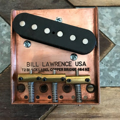Bill Lawrence Copper Tele Bridge with T2 Tele Bridge Pickup