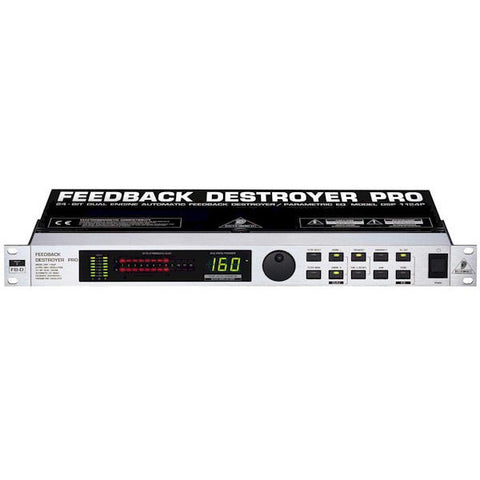 Behringer FEEDBACK DESTROYER PRO DSP1124P  Digital 24-Bit Feedback Suppressor/Parametric EQ
