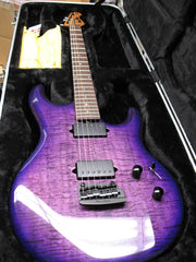Music Man Luke III 2018 Quilted Boysenberry with Hardshell Case IN STORE PICKUP ONLY