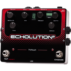 Pigtronix Echolution 2 Programmable Multi-Tap Modulation Delay E2R Pedals Pigtronix www.stevesmusiccenter.net
