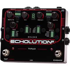 Pigtronix Echolution 2 Deluxe Programmable Multi-Tap Modulation Delay E2D Pedals Pigtronix www.stevesmusiccenter.net