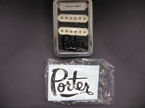 Porter Pickups 1960s Single Coils Set-Aged White