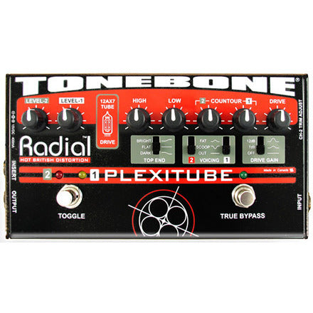 Radial Tonebone Plexitube Two channel tube distortion pedal