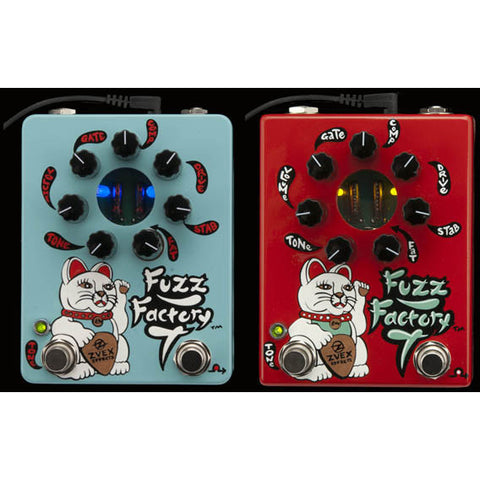 ZVEX Fuzz Factory 7 Hand Painted Light Blue Version