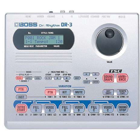 BOSS DR-3 Dr. Rhythm Drum Machine
