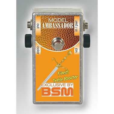 BSM Ambassador Treble Booster Crossover between the Rangemaster Booster, the Orange Booster and the Winston Booster