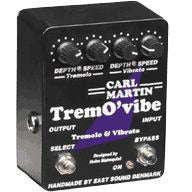 Carl Martin Trem O'vibe Tremovibe Tremolo Vibrato New OLD Stock Version with the AC cord attached.