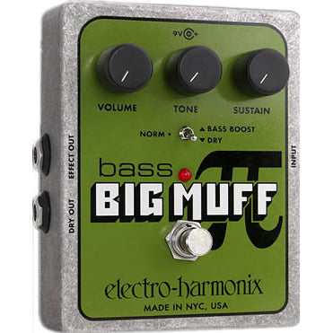 Electro-Harmonix Bass Big Muff Pi Distortion/Sustainer Pedal for Bass Guitar