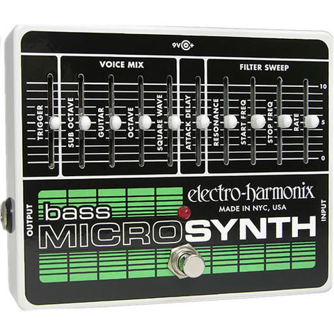Electro-Harmonix Bass Micro Synthesizer Analog Synth for Bass Guitar