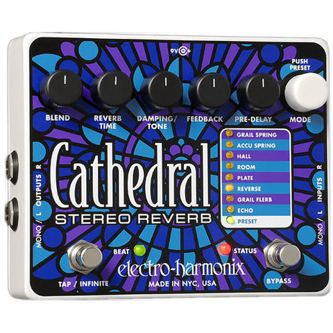 Electro-Harmonix Cathedral Deluxe Stereo Reverb Pedal