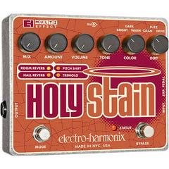 Electro-Harmonix Holy Stain Distortion/Reverb/Pitch/Tremolo Multi-Effect Pickups Electro-Harmonix www.stevesmusiccenter.net