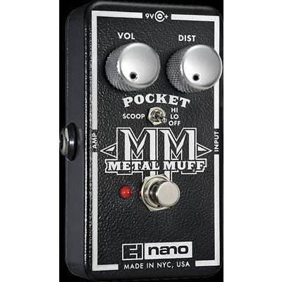 Electro-Harmonix Nano Pocket Metal Muff Distortion with Mid Scoop