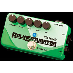 Pigtronix PolySaturator Compact, multi-stage distortion featuring an extra-wide gain range coupled with precision tuned low, mid and high band graphic EQs. Pedals Pigtronix www.stevesmusiccenter.net