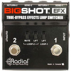Radial BigShot EFX True-Bypass Amplifier Switcher Pedals Radial www.stevesmusiccenter.net