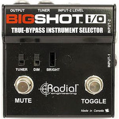 Radial BigShot I/O True-Bypass Instrument Selector Pedals Radial www.stevesmusiccenter.net