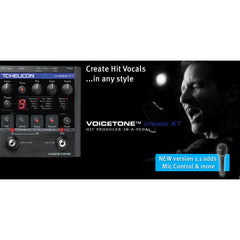 TC Helicon Voicetone Create XT Vocal Effects TC Helicon www.stevesmusiccenter.net