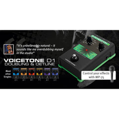 TC Helicon Doubling and Detune Vocal Effects TC Helicon www.stevesmusiccenter.net