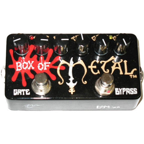 Z. Vex Box of Metal (Zvex) High Gain Distortion Pedal Hand Painted