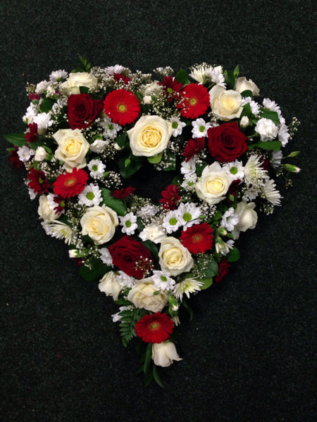 Funeral Arrangements:  Heart Shapes