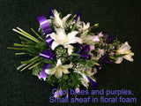 Funeral arrangements: Hand Tied Sheafs