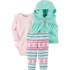 Conj 3 pcs Cardigan de Rayas en colores Carters 121h678