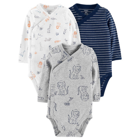 126H439 SET 3 BODYS MANGA LARGA NIÑO CARTERS