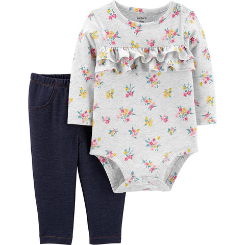 192135978559 CONJUNTO 2 PCS BODY FLORES CARTERS