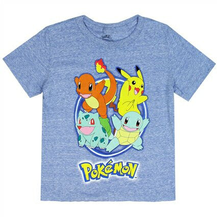 Camiseta Pokemon niño color Plomo/Leleste   MUSB024 DISNEY