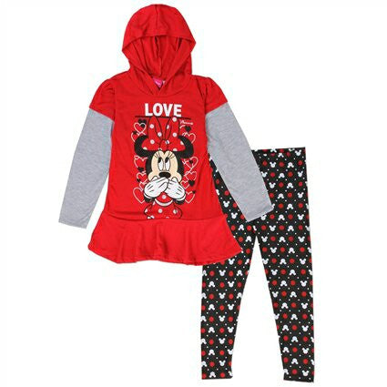 Conjunto Dos pcs Minnie Mouse niña Color Rojo 673802MI DISNEY