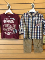 Conj 3pcs niño Camisa/Camiseta LITTLE REBELS 8C4109