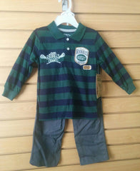 Conjunto de dos pcs color verde y azul Little Rebels LR1557