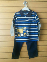 Conjunto de dos pcs para niño color azul y blanco Little Rebels 88787694988