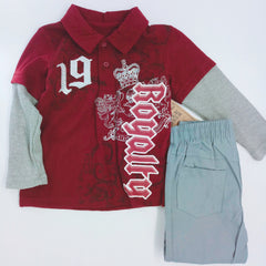 LR82025/0102 CONJUNTO 2 PCS NIÑO LITTLE REBELS