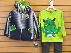 Conj 3pcs Dragon Verde Niño BOYS WEAR 3CZ4518