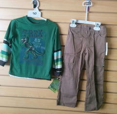 Conjunto de 2 pcs para niño color verde y marrón Boyz Wear G46103