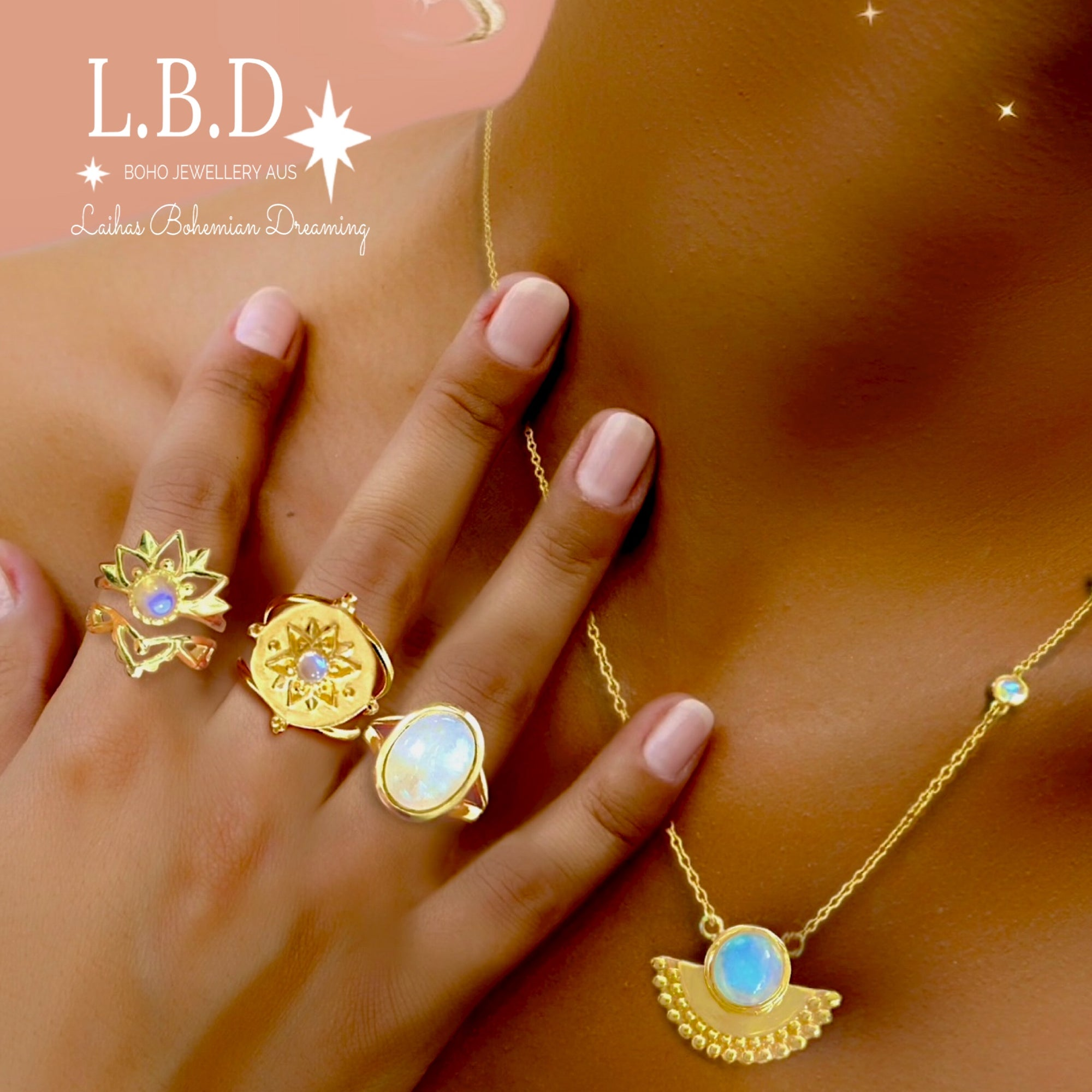 GOLD GEMSTONE JEWELLERY | Laihas Bohemian Dreaming