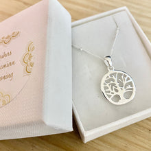Load image into Gallery viewer, Laihas Whimsical Tree Of Life Bohemian Sterling Silver Necklace - Laihas Bohemian Dreaming