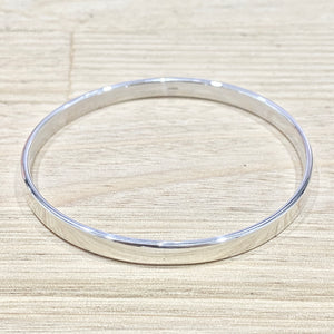 Laihas Simple Sterling Silver Smooth Bangle - Laihas Bohemian Dreaming