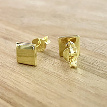 Load image into Gallery viewer, Laihas Simple Studs - Polished Gold Rhombus - Laihas Bohemian Dreaming