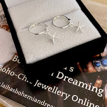 Load image into Gallery viewer, Laihas Mini Sea Star Hoop Earrings.