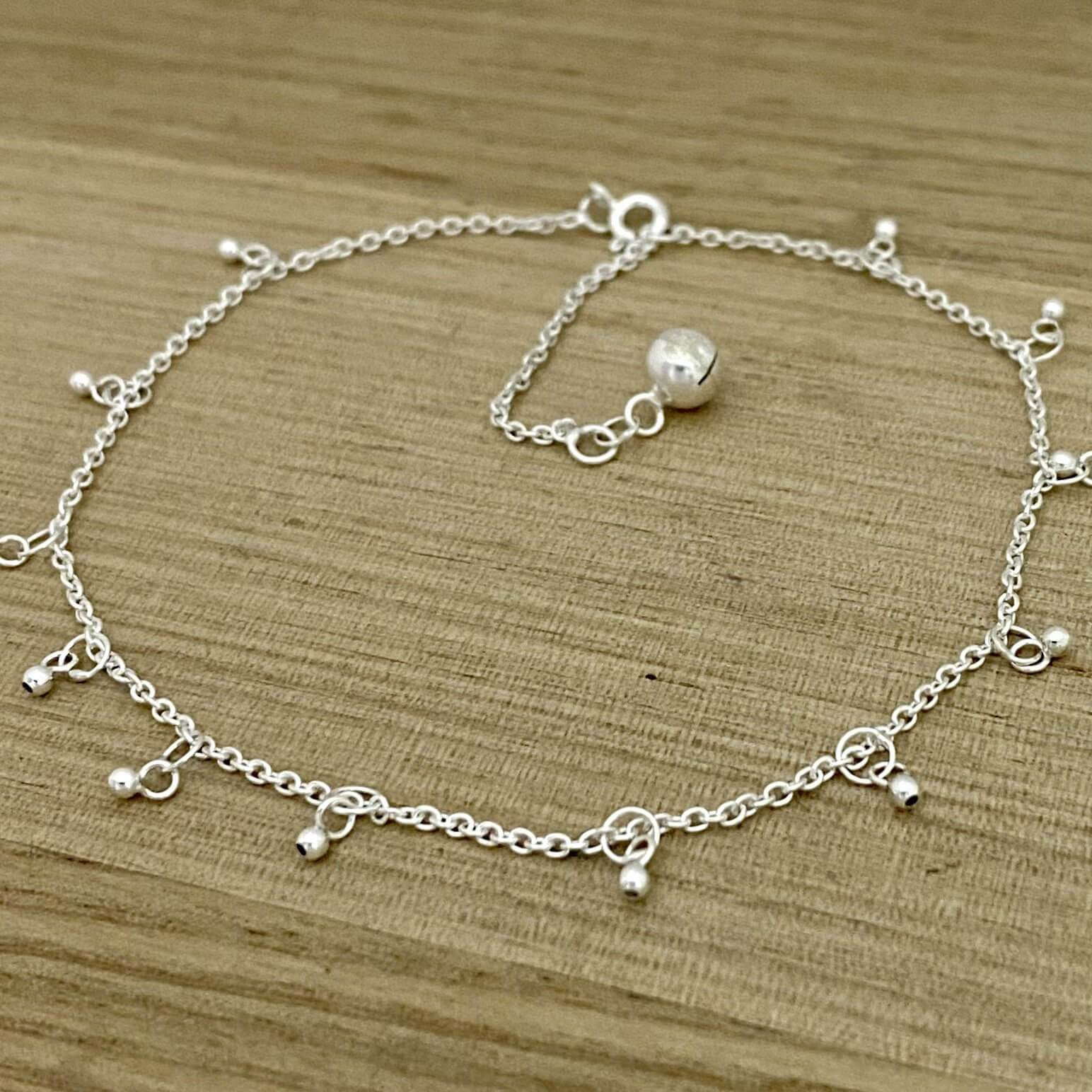 Laihas Bright Bell Sterling Silver Boho Anklet - Laihas Bohemian Dreaming
