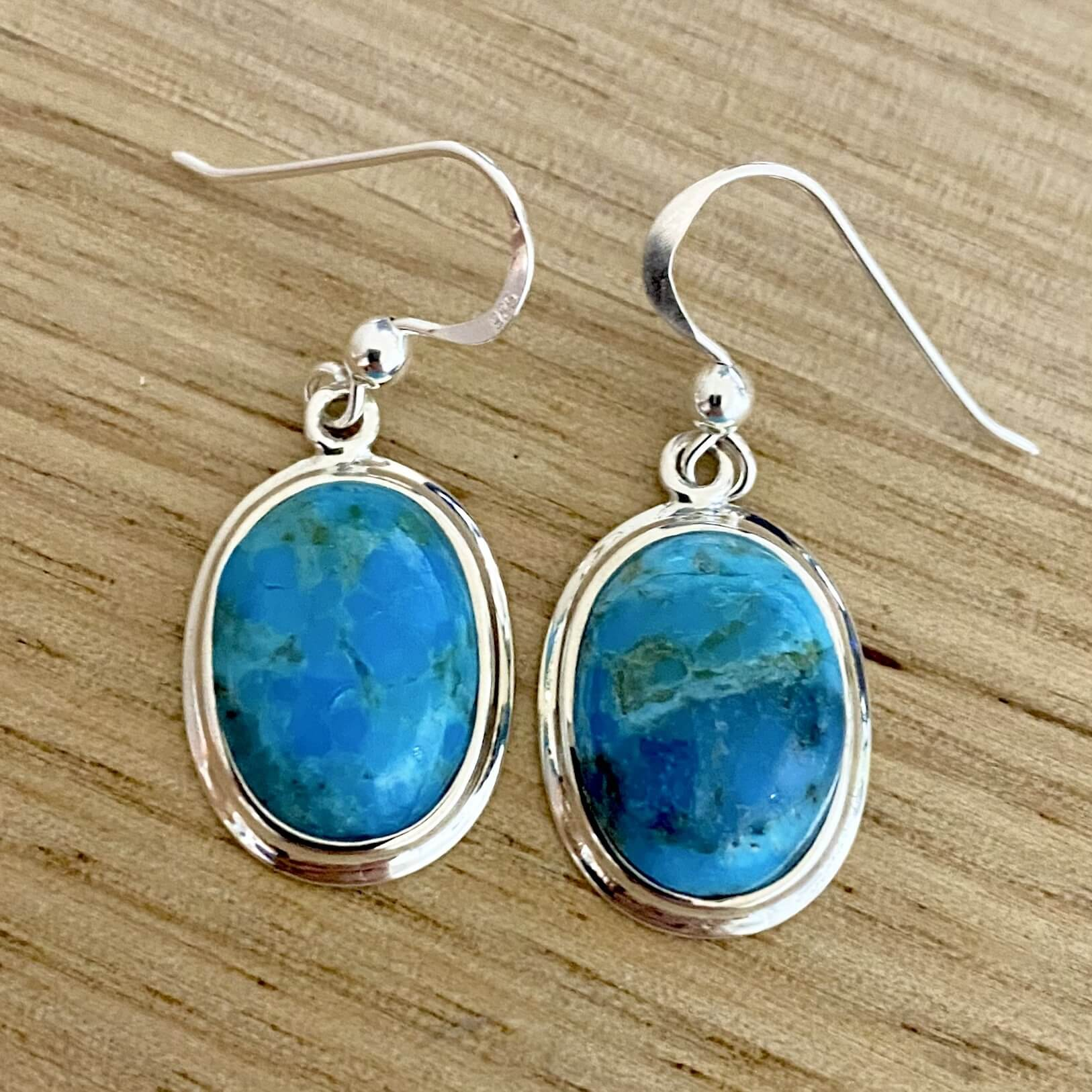 Laihas Classic Boho Sterling Silver Blue Turquoise Earrings - Laihas Bohemian Dreaming