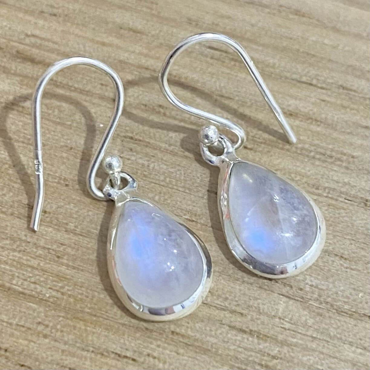 Laihas Classic Chic Small Raindrop Moonstone Earrings - Laihas Bohemian Dreaming